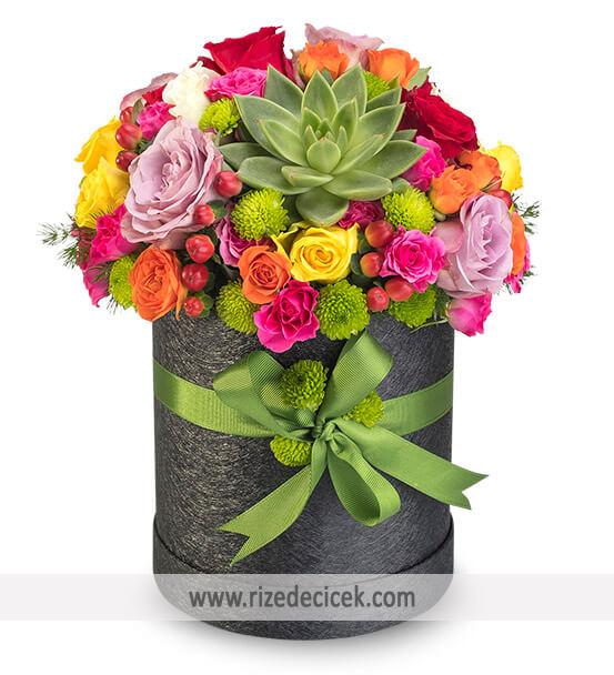 Rengarenk Çiçek Kutusu