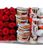 Kırmızı Güller ve Çikolatalar